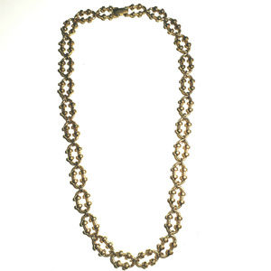 Vintage Avon Oval Link Necklace Gold Tone 18 1/2""